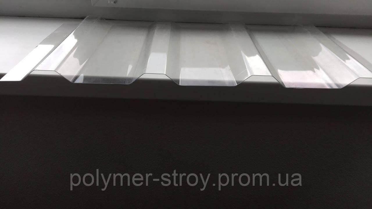 Гофрированный поликарбонат MARLON профиль Т20 1.183х3 метра Прозрачный