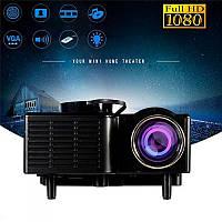 Портативный мультимедийный проектор UNIC 28+ Smart Black с пультом ДУ
