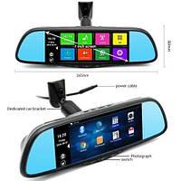 Видеорегистратор-зеркало DVR D35, автомобильный регистратор с большим экраном, авто регистратор видеорегистрар