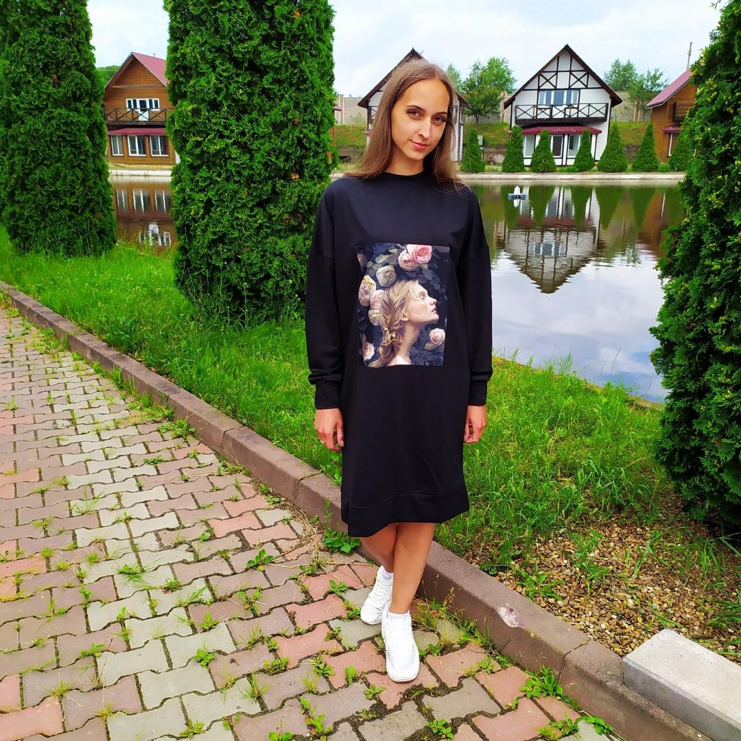 Жіноче плаття чорне 50, 52, 54