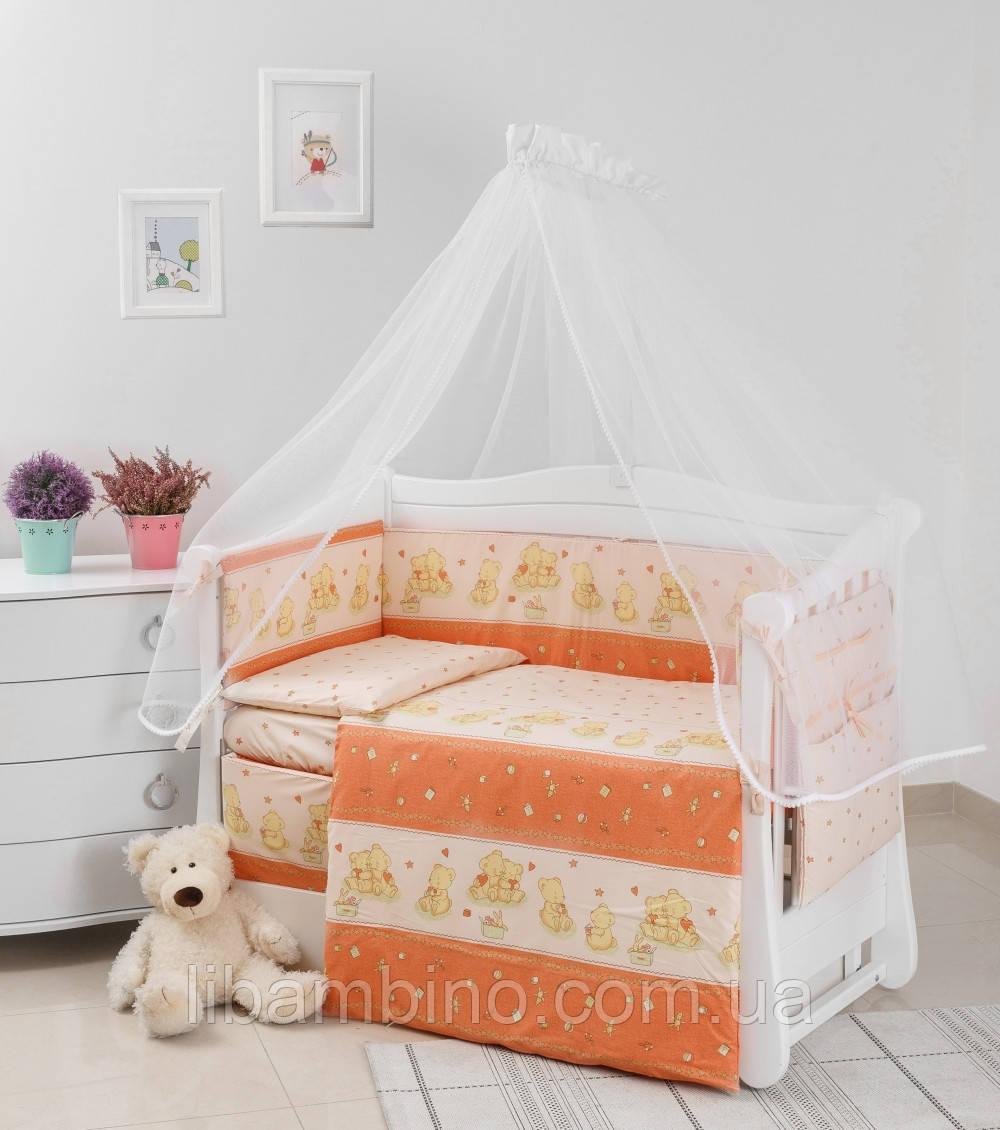 Комплект дитячої постілі Twins Comfort New Горошки 7 ел С-118 Orange