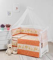 Комплект дитячої постілі Twins Comfort New Горошки 7 ел С-118 Orange, фото 1