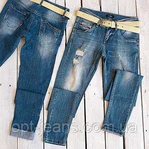 9064-511 Collibri джинсы женские с рванкой синие весенние стрейчевые (25-30, 6 ед.)