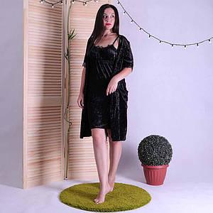 Женский велюровый халат с ночной р. 42 (S)