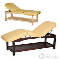 Кушетка стационарная деревянная Statix-5 ,Кушетка косметологическая , Массажный стол стационарный