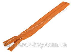 Молния потайная Тип 3 18см неразъемная цвет Оранжевый 849