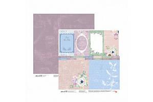 Бумага для скрапбукинга Emotion & Romance 7 двосторонній 30,48х30,48 см 200г/м2 ROSA TALENT