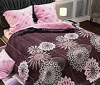 Комплект постельного белья полуторный Бязь GOLD 100% хлопок Розовые сны с компаньоном евро