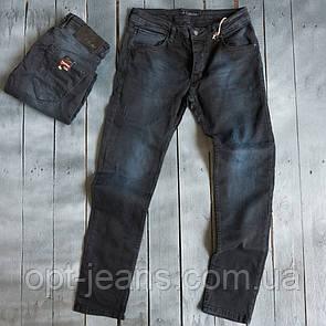 4839 Blue Nil джинсы мужские с царапками темно-синие весенние стрейчевые (29-36, 8 ед.)