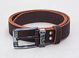 Кожаный коричневый мужской ремень DIESEL, фото 5