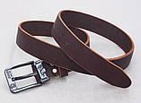 Кожаный коричневый мужской ремень DIESEL, фото 3