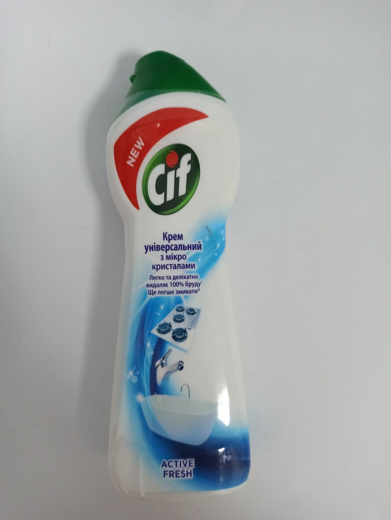 Очищуючий крем Cif Active 250 мл актив фреш