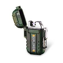 Электроимпульсная зажигалка Fren Explorer USB с двойной дугой в подарочной упаковке Камуфляж (00168-K)
