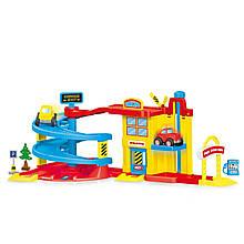 Автотрек DOLU гараж с машинками (5152)