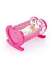 Кроватка для куклы DOLU Розовая (2549)