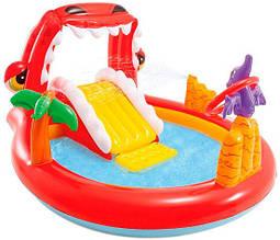 Водный надувной игровой центр Intex 57163 196 x 170 x 107 см Счастливый Динозавр Happy Dino Play Center Разноцветный (int_57163)