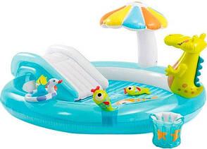 Водный надувной игровой центр Intex 57165 201 x 170 x 84 см Аллигатор Gator Play Center Разноцветный (int_57165)