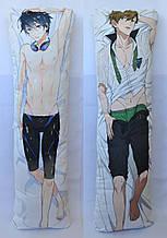 Дакімакура Подушка обнімашка 120х40 см із змінною наволочкою Харука и Макото