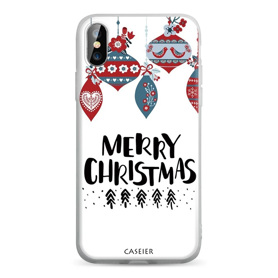 Силіконовий чохол для Apple iPhone X / iPhone XS з принтом Merry Christmas