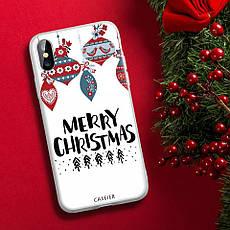 Силіконовий чохол для Apple iPhone X / iPhone XS з принтом Merry Christmas, фото 3