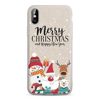 Силіконовий чохол для Apple iPhone X / iPhone XS з принтом Merry Christmas, фото 2