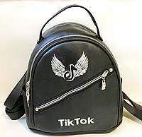 Брендовые рюкзаки Tik Tokиз искусств.кожи (ЧЕРНЫЙ)25*26см