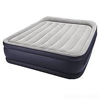 Надувная кровать Intex 64136 (67738), 152 х 203 х 42, встроенный электронасос. Двухспальная