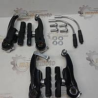 Гальма V-brake, задні+передній у зборі 80мм, велосипедний, чорний., фото 1