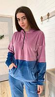 Женский спортивный костюм KML 00552/05 S-XL (44-50) Голубой с розовым