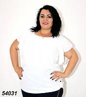 Женская футболка белая 48,52,54,56, фото 1