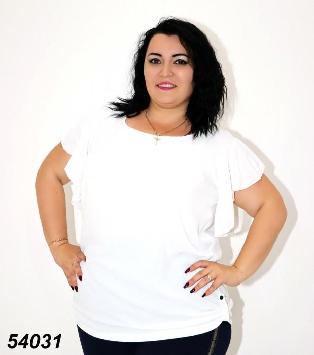 Женская футболка белая 48,52,54,56