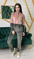 Женский спортивный костюм KML 00552/11 S-XL (44-50) Зеленый с бежевым (К 00552/11 A)