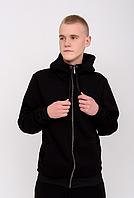 Спортивный костюм мужской утепленный на флисе Теплые мужские костюмы Черный