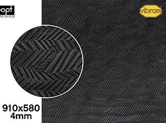 LISK (7170), цв.черный (AA), т.4мм эластичная резина для подошв Vibram
