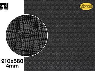 CHERRY (7175), цв.черный (AA), т.4мм эластичная резина для подошв Vibram