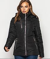 Куртка женская демисезонная больших размеров MODA 00563/3 (50 -64) XL- 8XL Черный