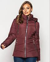 Куртка женская демисезонная больших размеров MODA 00563/2 (50-64) XL- 8XL Бордовый