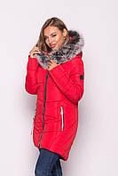 Женская куртка зимняя MODA 000318-1 (44-54) S - 3XL Красный