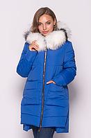 Женская куртка зимняя MODA 00079-2 (44-54) S- 3XL Электрик