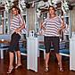 Женский летний костюм большого размера c шортами, фото 2