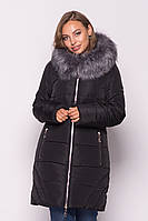 Женская куртка зимняя MODA 00077-1 (44, 50-60) XL -6XL Черный
