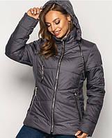 Куртка женская демисезонная больших размеров MODA 00563/4 (50-64) XL- 8XL Серый