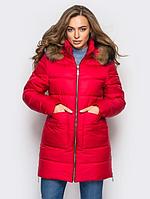 Женская куртка зимняя MODA 00039-2 (44-52) S -XXL Красный