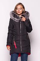 Женская куртка зимняя MODA 000318-3 (44-54) S -3XL Черный
