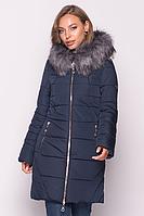 Женская куртка зимняя MODA 00077-2 (50-60) XL- 6 XL Темно-синий
