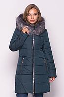 Женская куртка зимняя MODA 00077-3 (50-60) XL- 6XL Темно-зеленый