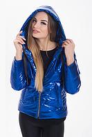 Демисезонная женская куртка KML K 00191 /03 (42-52) XS - XXL Синий