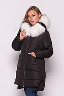Женская куртка зимняя MODA 00079-3 (44-54) S - 3XL Черный