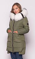 Женская куртка зимняя MODA 00079-4 (44 - 54) S -3XL Хаки