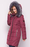 Женская куртка зимняя MODA 00077-4 (50-60) XL-6XL Бордовый